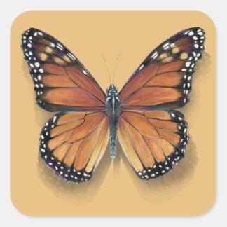 Monarch Butterfly small square sticker