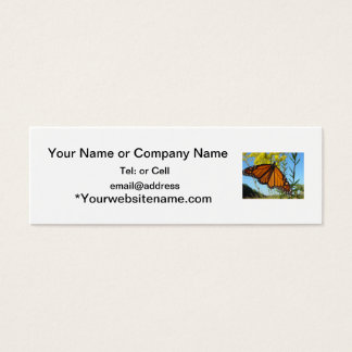 Monarch butterfly spreads his wings mini business card