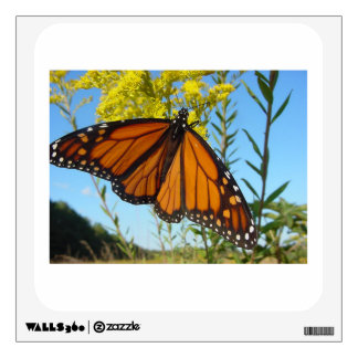 Monarch butterfly spreads his wings wall decal