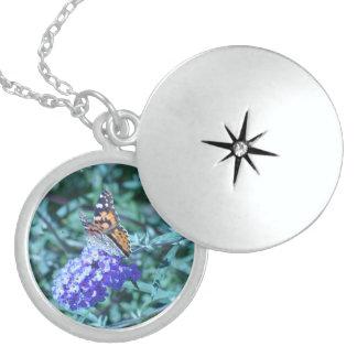 Monarch Butterfly Sterling Silver Locket