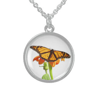 Monarch Butterfly, Sterling Silver Necklace
