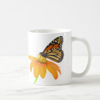 Monarch Butterfly Sunflower Flower Floral Garden Coffee Mug