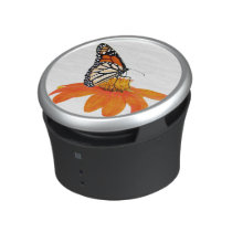 Monarch Butterfly Sunflower Flower Floral Speaker
