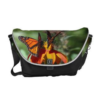 Monarch Butterfly Sunflower Flowers Floral Garden Courier Bag