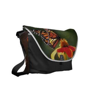 Monarch Butterfly Sunflower Flowers Floral Garden Messenger Bag