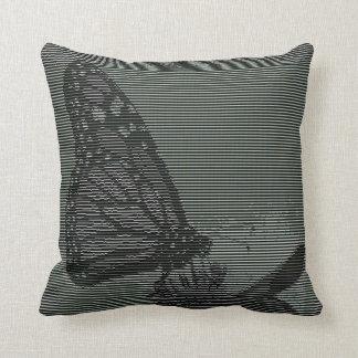 Monarch Butterfly Text Art Throw Pillows