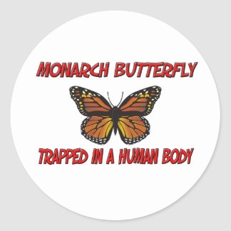 Monarch Butterfly trapped in a human body Sticker