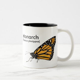 Monarch butterfly Two-Tone coffee mug