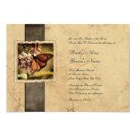"Monarch Butterfly Vintage Wedding Invitations 5"" X 7"" Invitation Card"