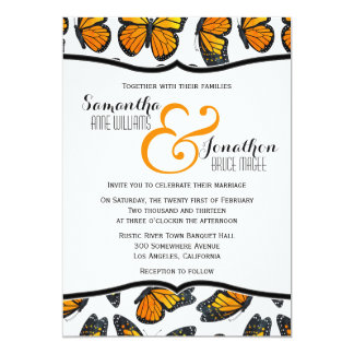 Monarch Butterfly Wedding Invitation