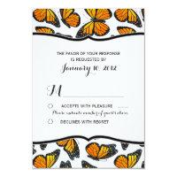 Monarch Butterfly Wedding RSVP Card (<em>$1.86</em>)