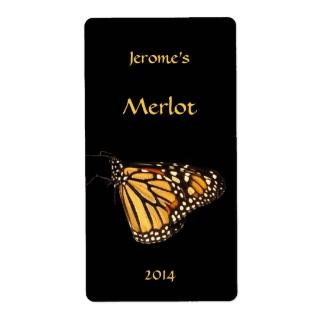 Monarch Butterfly Wine Label