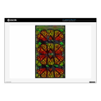 Monarch Butterfly Wing Abstract Laptop Skin