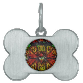 Monarch Butterfly Wing Abstract Pet Tags