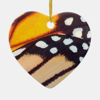 Monarch Butterfly Wing Ceramic Ornament
