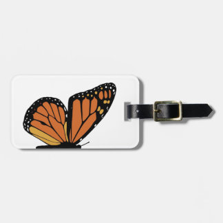 monarch butterfly wing luggage tag