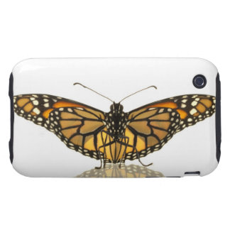 Monarch butterfly with wings spread tough iPhone 3 cover