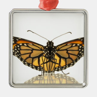 Monarch butterfly with wings spread metal ornament