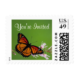 Monarch Butterfly - You're Invited Postage