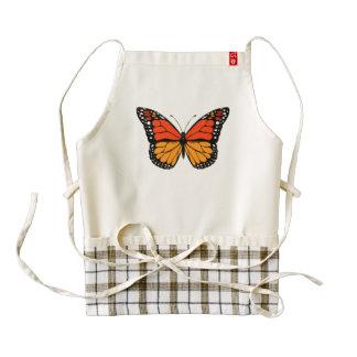 Monarch butterfly zazzle HEART apron