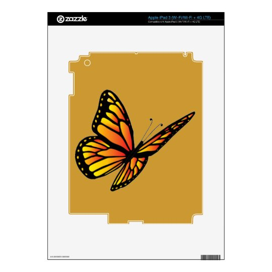 Monarch butterfly Zazzle Skin iPad 3 Skin