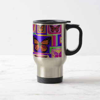 Monarch Buttery ART Gifts by Sharles 15 Oz Stainless Steel Travel Mug