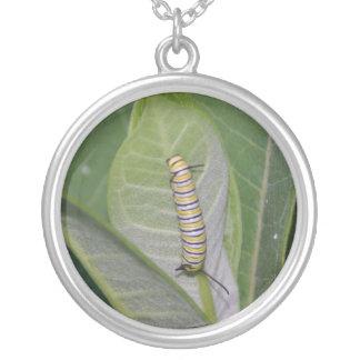 Monarch Caterpillar necklace
