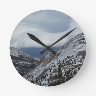 Monarch, CO Rocky Mountains Winter Time Clouds Clock