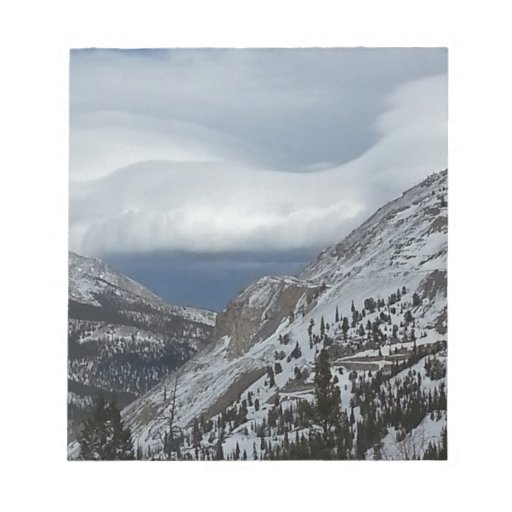 Monarch, CO Rocky Mountains Winter Time Clouds Note Pads