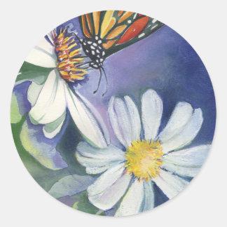 Monarch & Daisies Jbbackus 300 Classic Round Sticker