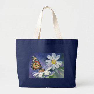 Monarch & Daisies Jumbo Tote Bag