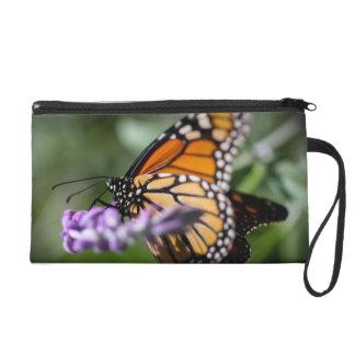 Monarch Danaus Plexippus Wristlet Clutch