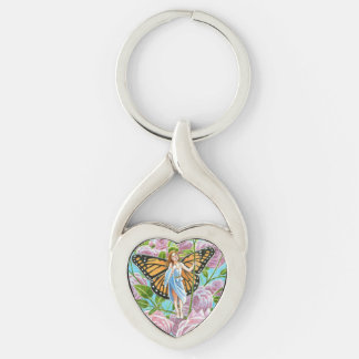 Monarch Fairy Amongst the Roses Keychain