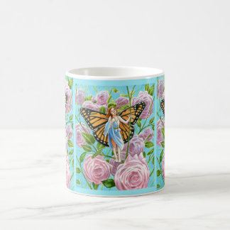 Monarch Fairy amongst the Roses Coffee Mugs