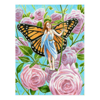 Monarch Fairy amongst the Roses Postcard