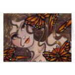 """""""Monarch Fairy"""" blank fantasy greeting card"""