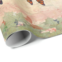 Monarch Garden Wrapping Paper
