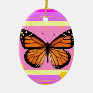 Monarch Girly Pink Design by Sharles Ceramic Ornament