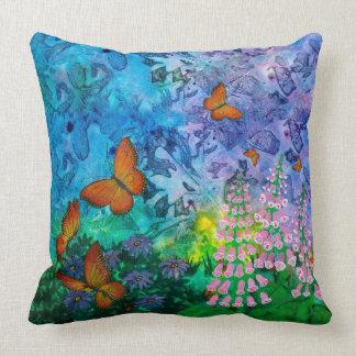 Monarch Haven Throw Pillow