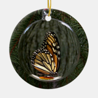 Monarch Holiday Ornament - Round