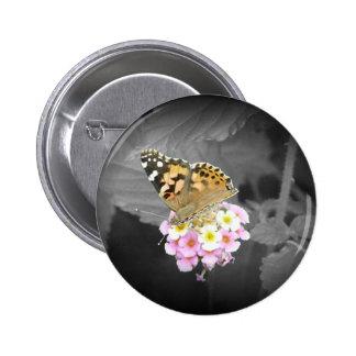 Monarch in bloom button