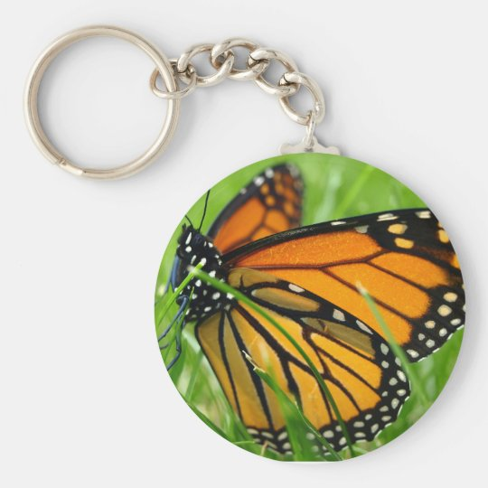 Monarch in the Grass Keychain