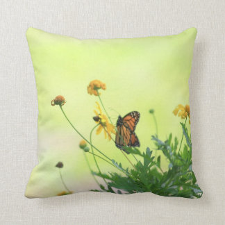 Monarch In the Spring Throw Pillow