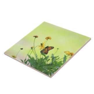 Monarch In the Spring Tile
