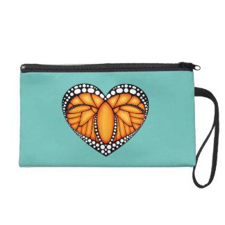 Monarch Love Wristlet Purse