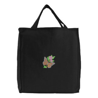 Monarch/ Milkweed Embroidered Tote Bag