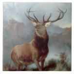 "Monarch of the Glen, 1851 Ceramic Tile<br><div class=""desc"">Image Collection Number:  BAL3435  Monarch of the Glen,  1851 (oil on canvas). Landseer,  Sir Edwin (1802-73) oil on canvas. United Distillers and Vintners .  1851</div>"