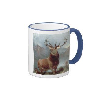 Monarch of the Glen, 1851 Ringer Coffee Mug