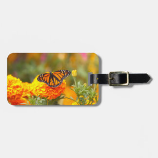 Monarch on a Marigold Bag Tag