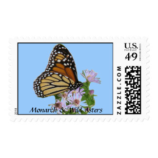 Monarch on Asters Postage